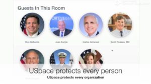 USpace laptop view - Covid Response Demo