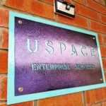 USpace field office powder coated sign