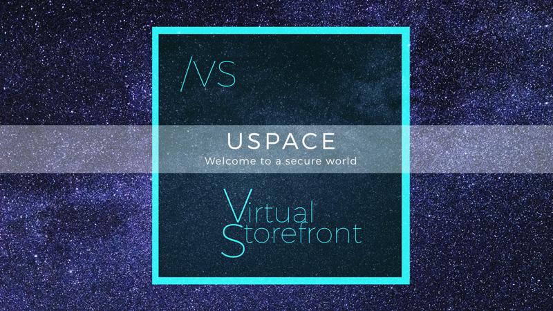 USpace Virtual Storefront logo floating in Milky Way by Felix Mittermeier on Pexels